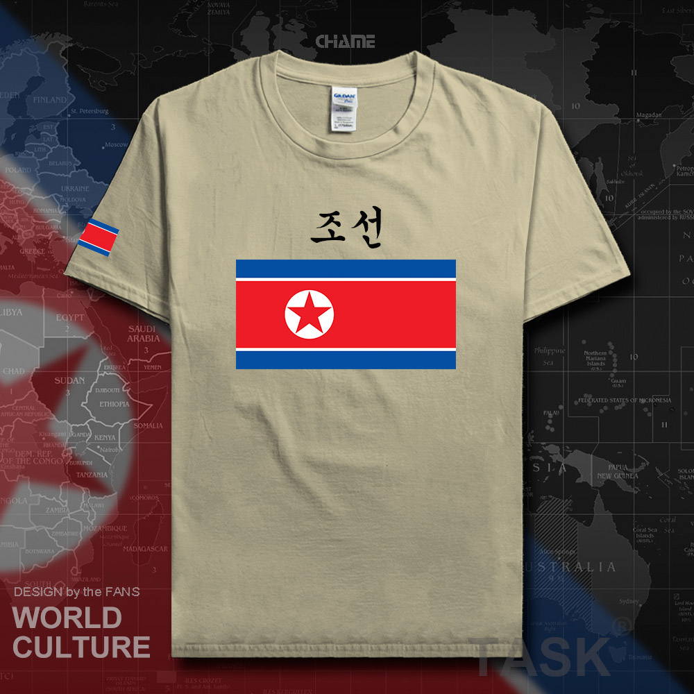North Korea DPRK Korean mens t shirt 2018 jerseys nation team tshirt 100% cotton t-shirt clothes tees country sporting KP PRK 02 image