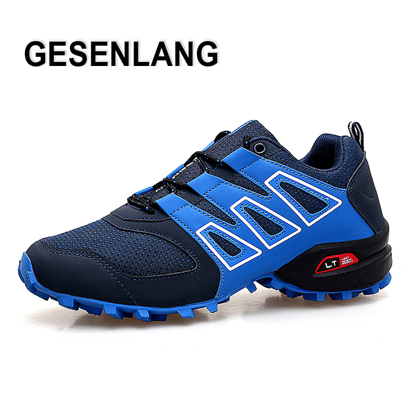 Men Big Size Gym Running Sport Shoes Breathable Cushioning Nonslip Rubber Man Sneakers Wearable Outdoor Trail Walking Male Shoes