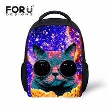 Forudesigns/милый кот печати для мальчиков и девочек мини-рюкзак, 3D сзади Сумки для школы, Детский сад Детский Малый Bagpack Bookbag rugzak