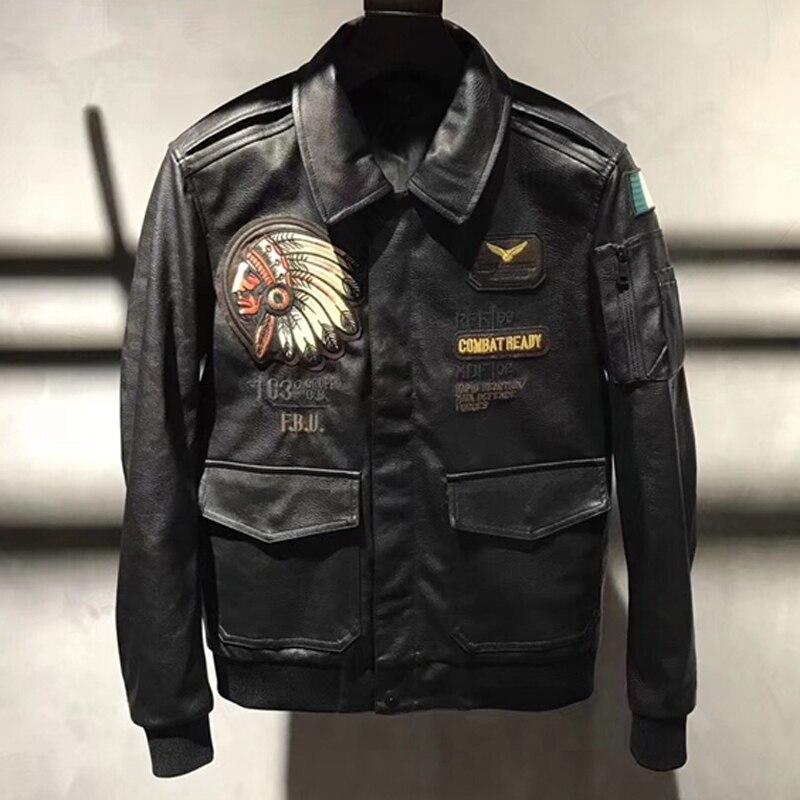 2018 Новые поступления 4XL пэчворк Локомотив кожаные куртки и пальто для больших и высоких мужские байкерские кожаные куртки пальто C1670