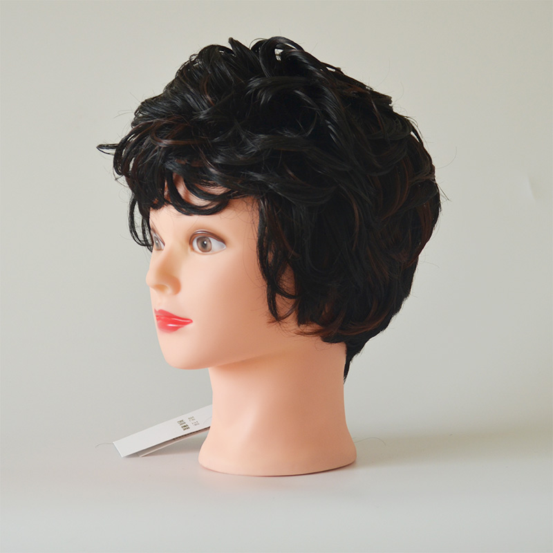 52cm Bald Manikin head With Black Table Clamp Woman Doll Head For Wig Making Hat Display Maniquin Head Wig Stand
