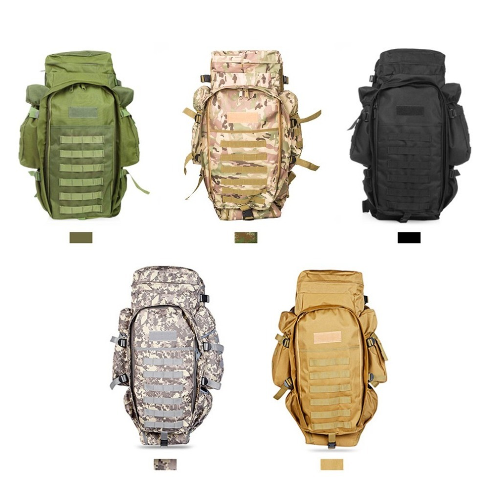 цена на 60L Outdoor Military Tactical Backpack large Capacity Camping Bags Mountaineering bag Men's Hiking Rucksack Travel Backpack