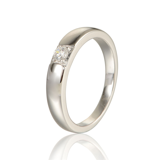 sterling-silver rings size 8 9 10/11 2015 New  Wedding Rings with Clear CZ Stone Romantic Love Style DIY Gift RIPY042B