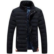 Воротник Ватник Мужчины Повседневная Куртка Мужчины С Длинным Рукавом теплый И Пиджаки Осень Зима Куртка Мужчины Ватные Плюс Размер M-3XL прилив