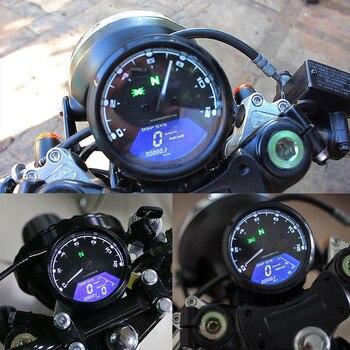 Universal Digital Motorcycle Speedometer Odometer Tachometer Motorbike Dashboard Speed Indicator LED Speed Meter Мотоцикл