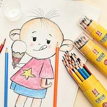 12/18/24/36PCS/Set Color Pencil Professional Lead Hand-painted Barrel Children Colors Student Stationery Wholesale