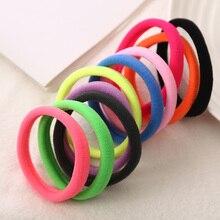 Мода 10 шт./лот большой размеры карамельный цвет качество эластичная резинка для волос держатели интимные Аксессуары для девочек для женщин резинки галстук