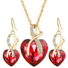 Модные роскошные свадебные ювелирные наборы вечерние ювелирные изделия ожерелье серьги циркон Украшение Шарм для женщин вечерние