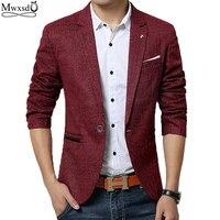 Mwxsd hiệu mùa xuân mùa thu men casual Blazer phù hợp với mens bông phù hợp với Áo Khoác slim fit Men của cổ điển thông minh casual blazer cho nam
