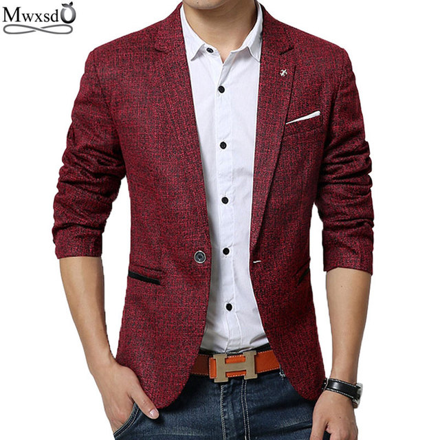 Mwxsd marca primavera otoño hombres casual suit Blazer de