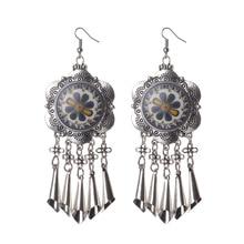 Antique Silver Tassel Pendant Dangle Earring Flower Love Long Pendant 4 Styles to Choose Earring for Women Gift Jewely E142