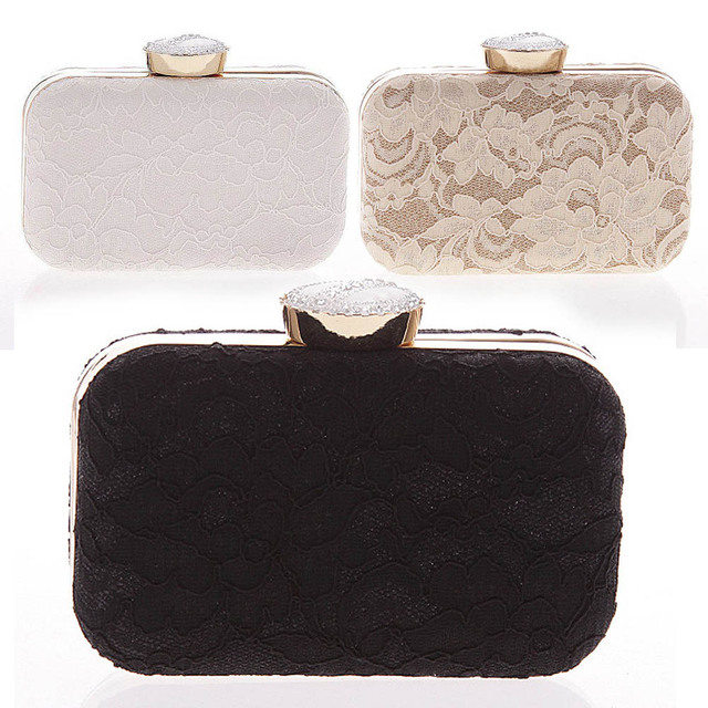 2017 New Women Elegant Fashion Bag Lace Dinner Wedding Bridal Party Hand Bag Fashion Clutch Evening Bag Purse for Women Balestra