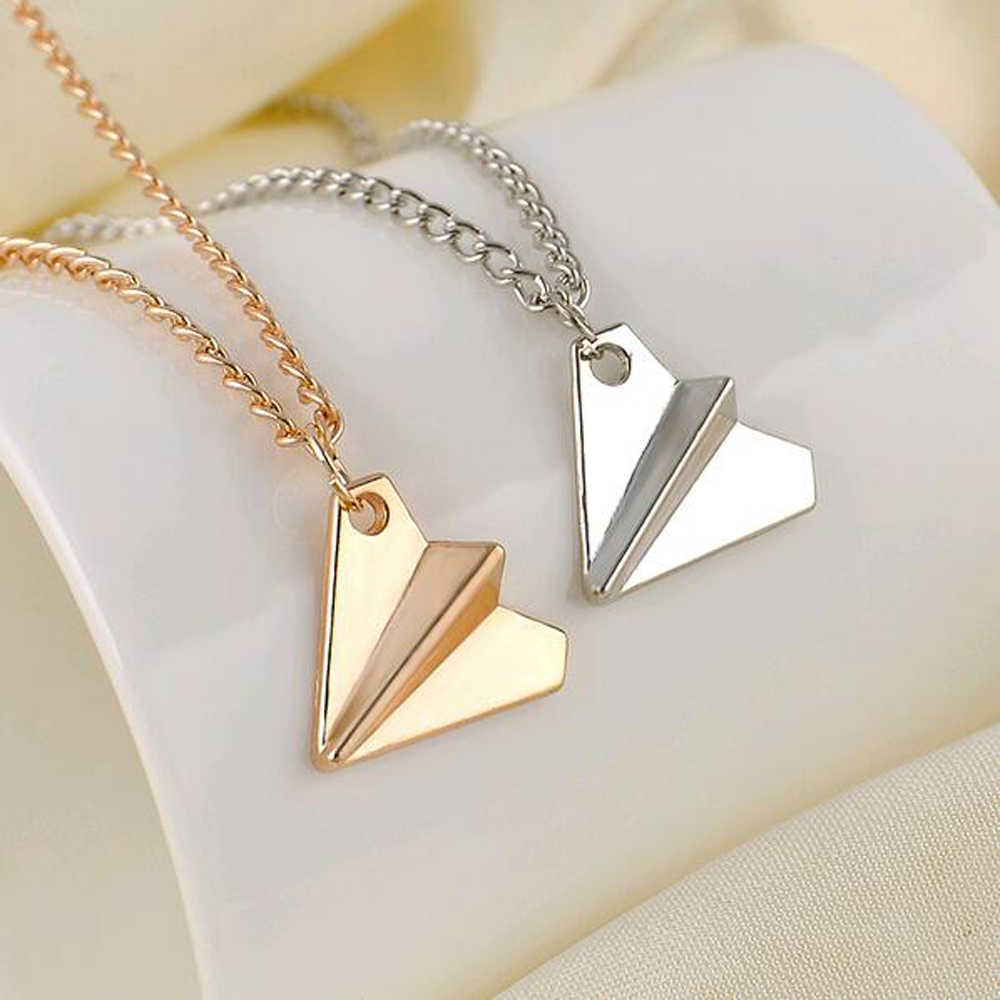 Collares Overwatch Choker 2018 New Men Jewelry Necklace Chain Fashion One Direction Band Harry Styles Paper Airplane Pendant