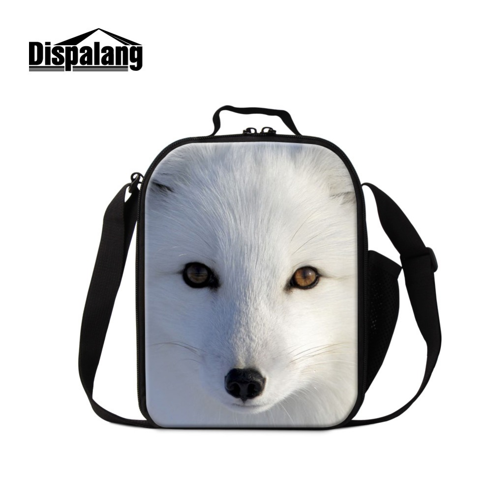 Cool Fox Printed Lunch Bags for Girls School Animal Design Insulated Lunch Container for Kids Boys Coole Bags Stylish Meal bags