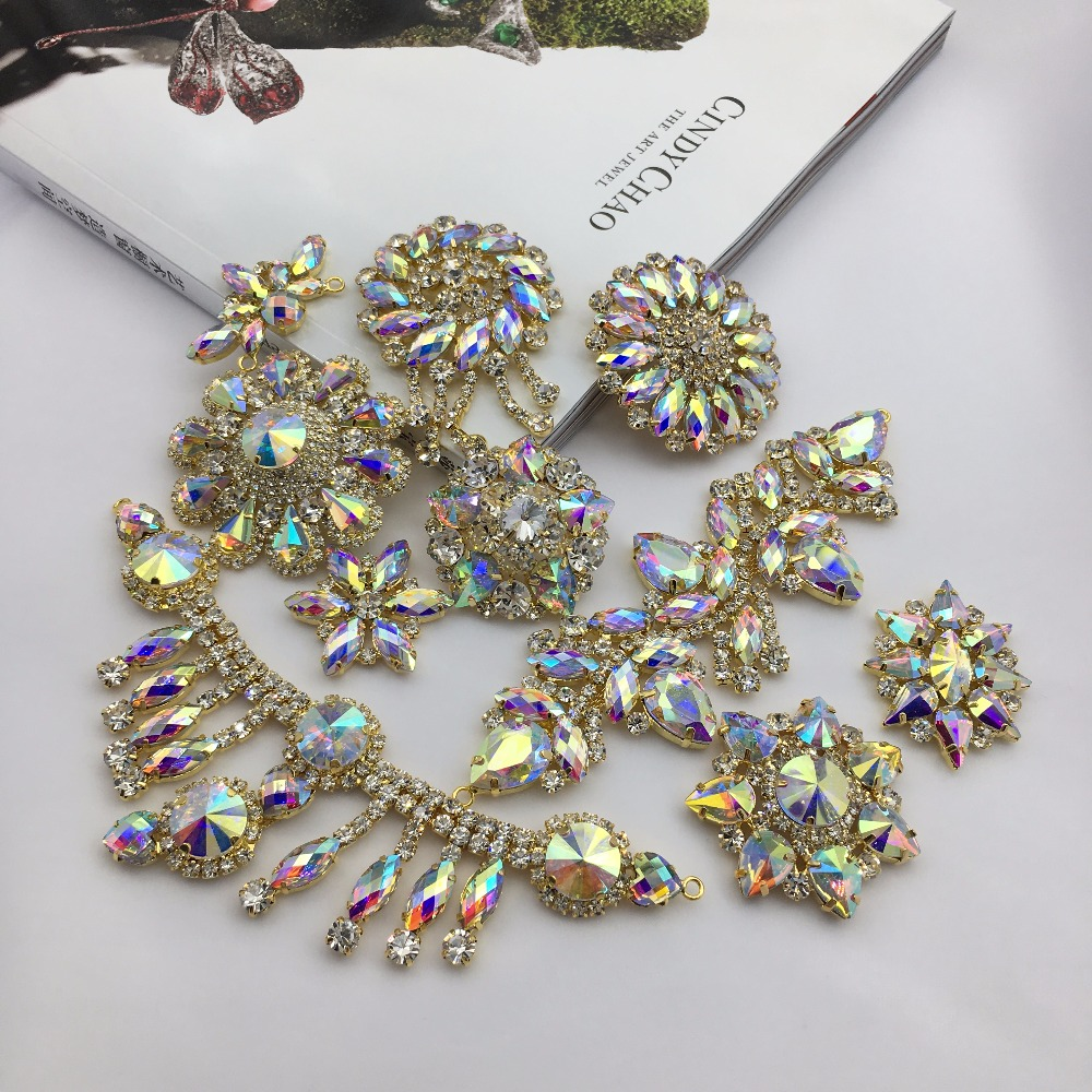 Drill Alloy Decoration Buckle Color Flower Diamond Hand Wedding Dress Shoes And Caps DIY Accessories