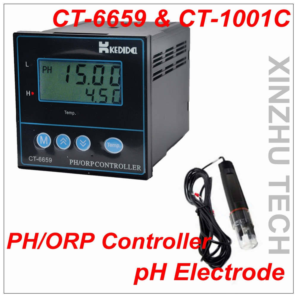 CT 6659 Type Industrial PH Meter PH ORP Controller PH Value Detector AC 220V Measuring Range