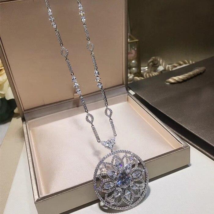 Projektant mody miedzi biżuteria 3A naszyjnik z cyrkoniami w Naszyjniki łańcuszkowe od Biżuteria i akcesoria na  Grupa 1