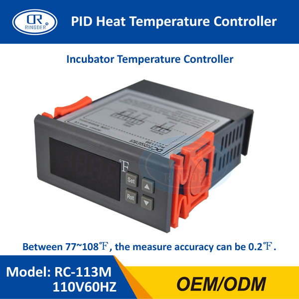 RINGDER RC-113M 110V60HZ PID Heat Brooding Hatching Regulator Digital Thermostat Temperature Controller for Incubator Lab цена 2017