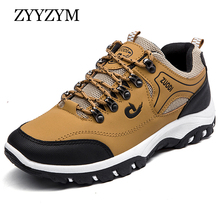 ZYYZYM Men Casual Shoes Spring Autumn Lace-Up Style Outdoors Non-slip Mixed Colors Fashion Men Shoes High quality