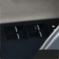 Car Styling Window Lift Switch Sticker Door Button Interior Chrome Trim Decoration Suitable For Toyota Corolla