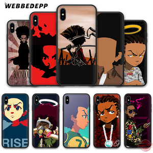 WEBBEDEPP The Boondocks Soft Silicone Case for iPhone 8 7 6S 6 Plus 11 Pro XS Max XR X 5 5S SE Back Shell(China)