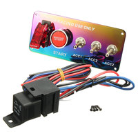 New Racing Car 12V 20A Red LED Toggle Ignition Switch Panel Engine Start Push Button Auto Replacement Parts Switches