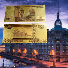 Russian 500 Rubles Gold Banknote 24K gold Foil Banknotes For Bank Souvenir Gift