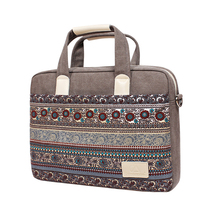 Fashion Canvans Laptop Sleeve Case 13 14 15 Inch Folk Custom Computer Bag Notebook For Tablet