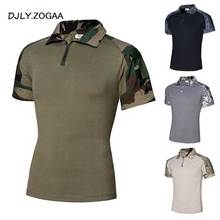 ZOGAA New 2019 Men Polo Tactical Casual Solid Shirts for Short Sleeve Top Camouflage Mens