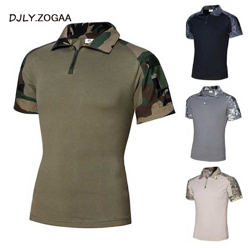 ZOGAA New 2019 Men   Polo   Tactical   Polo   Casual Solid Shirts for Men Short Sleeve Top Camouflage Men's Short Sleeve   Polo   Shirts Men