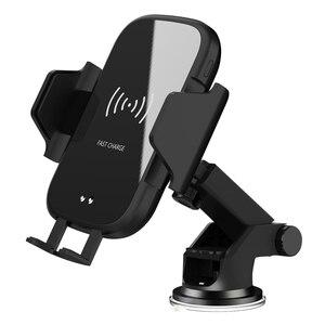 Image 5 - Bezprzewodowa ładowarka samochodowa 10W Qi automatyczna do xiaomi 9 Max Samsung S8 szybka ładowarka na podczerwień Air Vent uchwyt samochodowy do telefonu