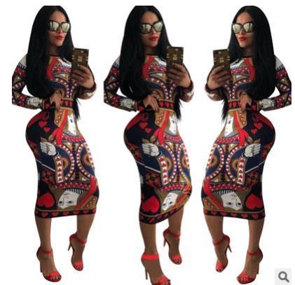 Women Long Sleeve  Bodycon  Dresses