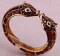 Giraffe bangle bracelet for women antique gold plated animal jewelry FT44 wholesale dropship