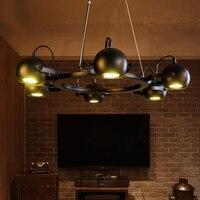 Ретро гладить шкив подвесные светильники Американский Винтаж промышленные шкив веревка старинное Edison ЛАМПЫ черный цвет шкив подвесной све