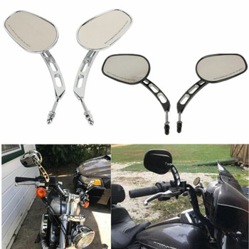 Motorcycle Universal Rear View Side Mirrors For Harley Road King Touring XL883 Sportster 1200 XL1200C Fatboy  Dyna Softail 8MM motorcycle 8mm rear view mirrors for harley sportster xl 1200 883 low rider sport glide