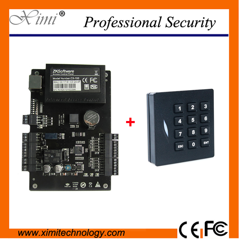 ZK C3-100 One Door Two Sides Access Control Panel TCP/IP RFID Card Door Access Control System