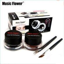 Music Flower 2 In 1 Brown + Black Eyeliner Gel Make Up Water-proof Eye