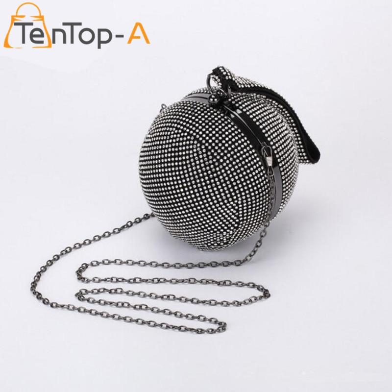 TenTop-Un Mejor Precio de Las Mujeres del Diamante Lleno Circular Tellurion Bola