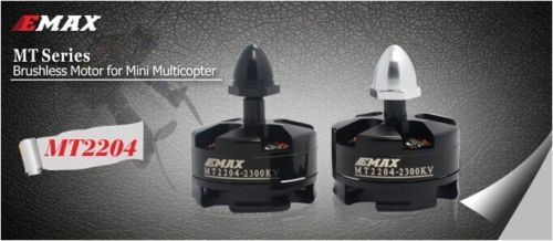 Emax MT2204 2300KV Brushless Motor for RC QAV250 250 280 GE260 Quadcopter Multirotor  (2pc 1xCCW 1xCW) 4x emax mt2213 935kv 2212 brushless motor for dji f450 x525 quadcopter multirotor
