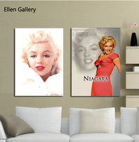 2 Pcs/ensemble Marilyn Monroe Mur Art Toile Peinture Mur Photos Pour Salon Pulvérisation Quadro Photo Cuadros No Frame