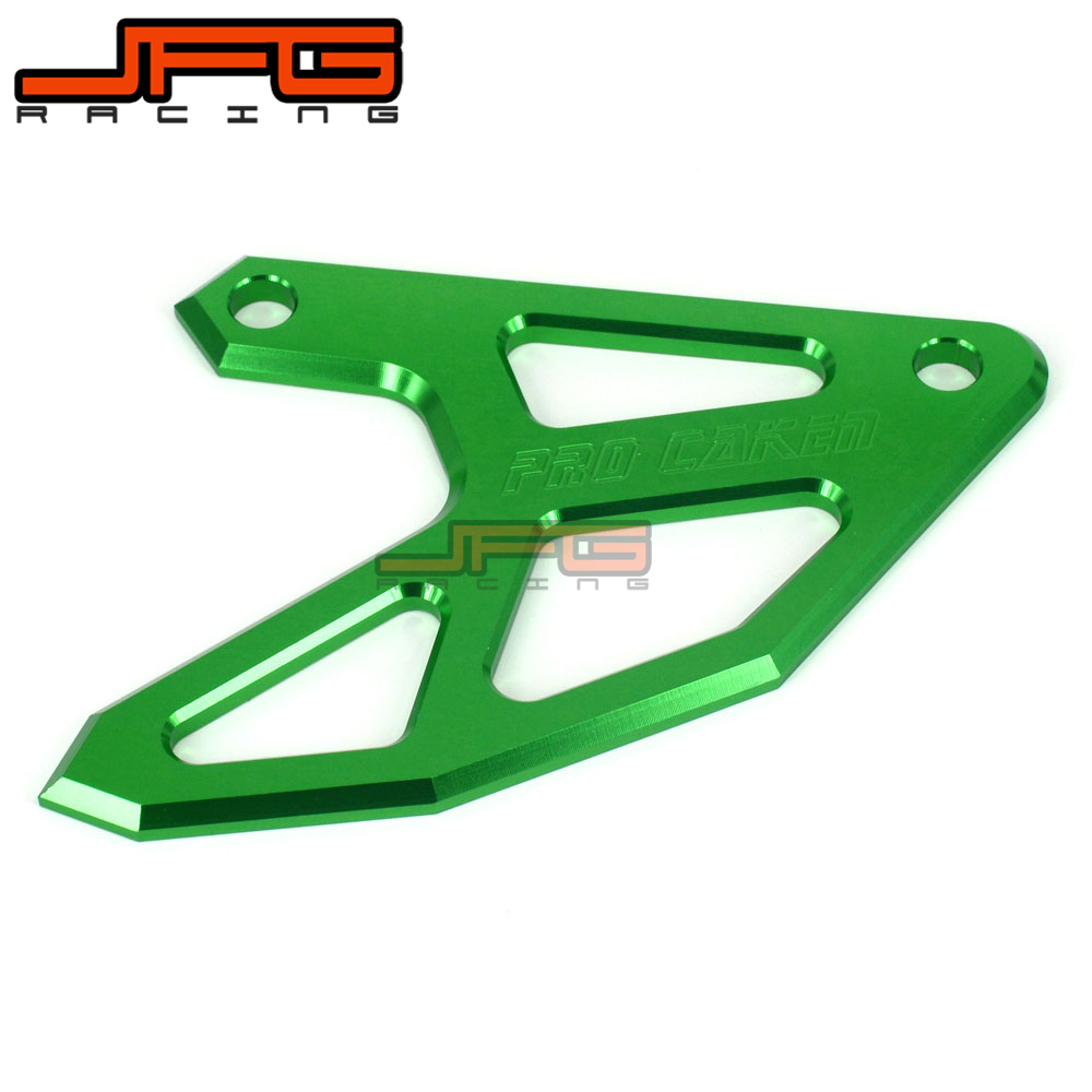 CNC Rear Brake Disc Guard Protect For KLX450R 2007 2008 2009 KX250 KX125 2004 2005 KX250F KX450F 06-15 Dirt Bike