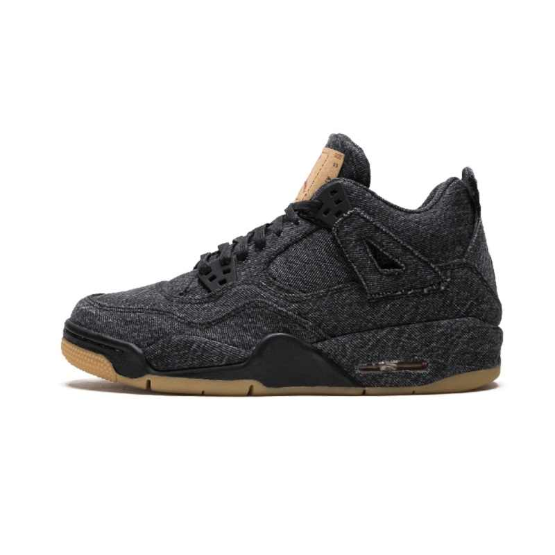 320585e677a 2019 NEW AIR US JORDAN 4 Singles Day Men Basketball Shoes Bred Kaws Grey  Black Cat