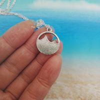 SanLan good quality camping jewelry Outdoor Jewelry Gifts Lovely round pendant Pine Tree necklace under the mountain 5