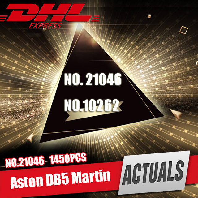 DHL 21046 Car Technic James Bond Aston DB5 Martin  Building Blocks Kit Bricks Sets Classic 007 Model Toy Legoings 10262