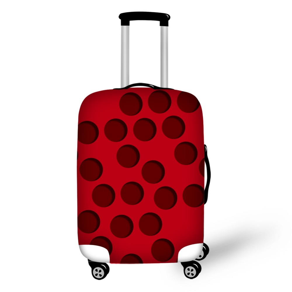 Fashion Dot Design Travel Accessories Suitcase Protective Covers 18 32 Inch Elastic Luggage Dust Cover Case Stretchable in Travel Accessories from Luggage Bags
