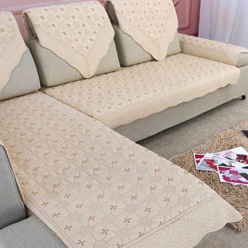 Luxury Slipcover Cotton Sofa Cloth Fabric Rose Flower