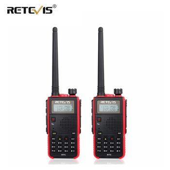 2 pcs Portable Walkie Talkie Pair Retevis RT5 7W 128CH VHF UHF Dual Band VOX FM Radio Station cb Radio Transceiver Walkie-Talkie telephony