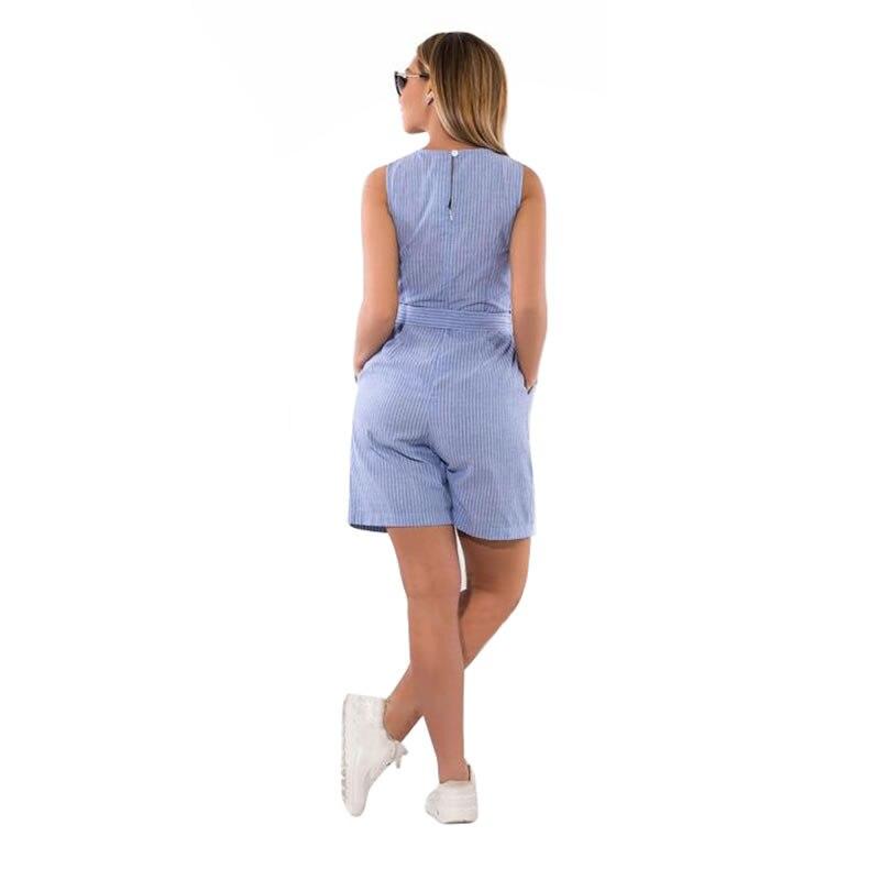 2018 Summer rompers womens jumpsuit striped playsuit 5XL 6XL plus size jumpsuit shorts overalls for women combinaison femme  1