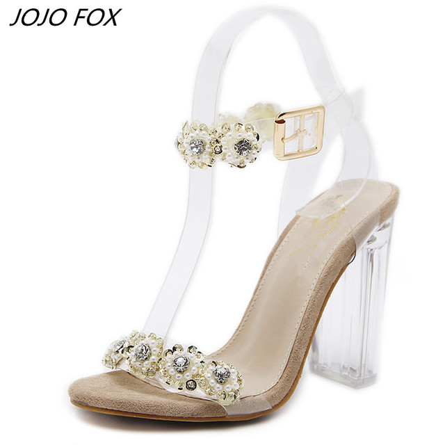 ea0a382bafa women pumps 2018 PVC Women Sandals Sexy Clear Transparent Ankle Strap High  Heels Party Sandals Women Shoes transparent sandals