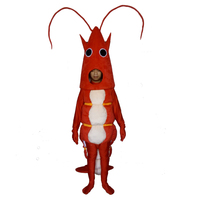 Red Lobster Mascot Costume Cosplay Outfits Adult Size Shrimp Cartoon Mascot costume For Carnival Festival Commercial Dress